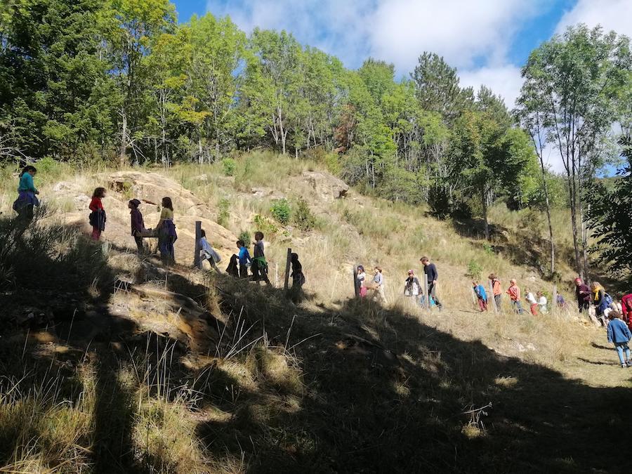 Les enfants en randonnée