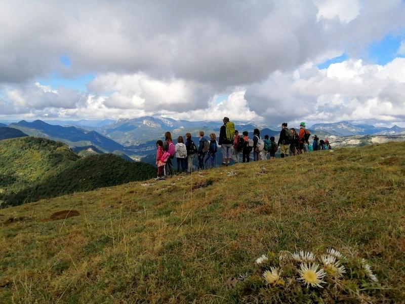 Randonnée avec les enfants au Mont Chauvet